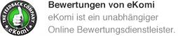 Sicher einkaufen Koffer.de ist eKomi zertifiziert.
