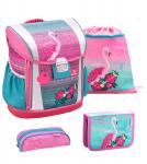 Belmil 'Customize-Me' Schulranzen Set 4-teilig Pink Flamingo jetzt online kaufen