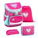 Belmil 'Mini-Fit' Schulranzen Set 4-teilig *Glitzer Edition* Heart jetzt online kaufen