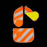 ergobag Schulzubehör Sicherheits-Set mit Reflektorstreifen, 3-tlg. 2020 Orange jetzt online kaufen