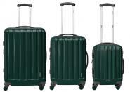 Packenger Velvet Hartschalenkoffer 3er-Set Dunkelgrün jetzt online kaufen