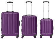 Packenger Velvet Hartschalenkoffer 3er-Set Lila jetzt online kaufen
