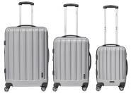 Packenger Velvet Hartschalenkoffer 3er-Set Silber jetzt online kaufen