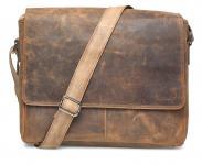 """Packenger Vethorn Umhängetasche Messenger Bag 15"""" Vintage Braun jetzt online kaufen"""