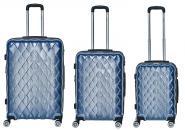 Packenger Atlantic Set 3-tlg. 4 Rollen, Trolley M / L / XL  52-68-76 cm blau jetzt online kaufen
