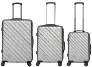 Packenger Vertical Koffer 3er-Set Silber Metallic jetzt online kaufen