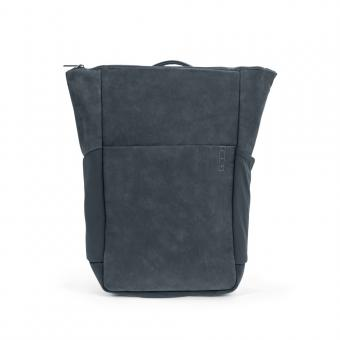 A E P Plain *Sleek* Leather Business Backpack mit Laptopfach Slate Grey