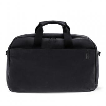 A E P Workbag *Sleek* Leather Business Work Bag mit Laptopfach Charcoal Black