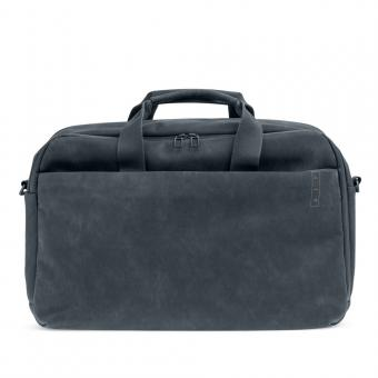 A E P Workbag *Sleek* Leather Business Work Bag mit Laptopfach Slate Grey
