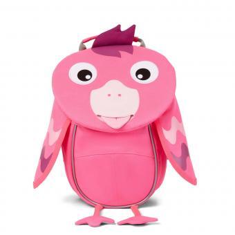 """Affenzahn Kleiner Freund """"Flamingo"""" Kindergartenrucksack *Neon Pink*"""
