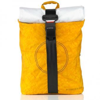 Airpaq 2.0 Classic Rolltop-Rucksack mit Laptopfach Gelb