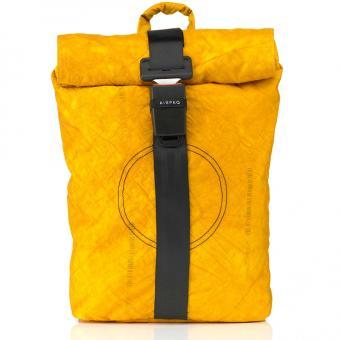 Airpaq 2.0 Unicolor Rolltop-Rucksack mit Laptopfach Gelb Uni