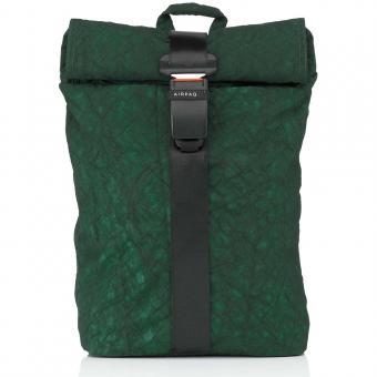 Airpaq 2.0 Unicolor Rolltop-Rucksack mit Laptopfach Grün Uni