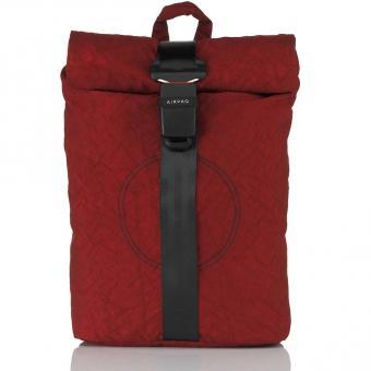 Airpaq 2.0 Unicolor Rolltop-Rucksack mit Laptopfach Rot Uni