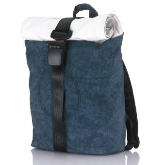 Airpaq Classic Rolltop-Rucksack mit Laptopfach blau