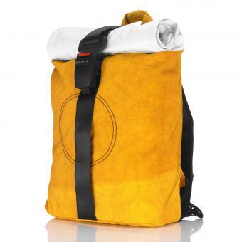 Airpaq Classic Rolltop-Rucksack mit Laptopfach gelb
