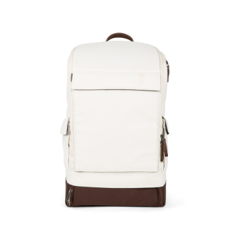 A E P Alpha Classic Essential Backpack mit Laptopfach Creme White