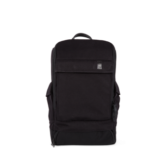 A E P Alpha Small Essential Backpack mit Laptopfach Pitch Black