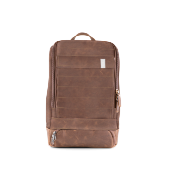 A E P Alpha Small Leather Special Lederrucksack mit Laptopfach Royal Brown