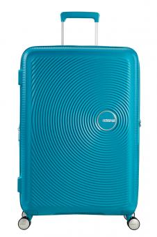 American Tourister Soundbox Trolley L 4R 77cm, erweiterbar Summer Blue