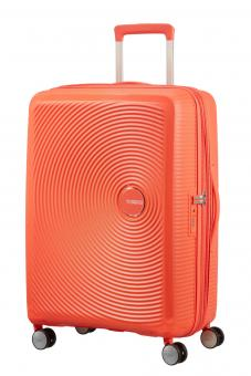 American Tourister Soundbox Trolley S 4R 55cm, erweiterbar Spicy Peach