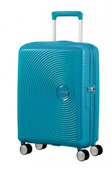 American Tourister Soundbox Trolley S 4R 55cm, erweiterbar Summer Blue