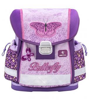 Belmil 'Classy' Schulranzen Set 4-teilig *Glitzer Edition* Shiny Butterfly