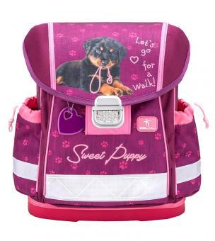 Belmil 'Classy' Schulranzen Set 4-teilig *Glitzer Edition* Sweet Puppy