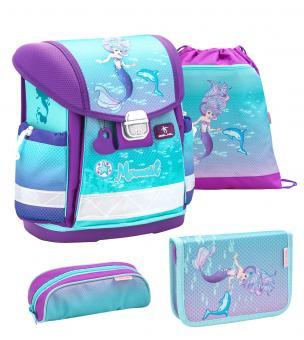 Belmil 'Classy' Schulranzen Set 4-teilig Purple Mermaid
