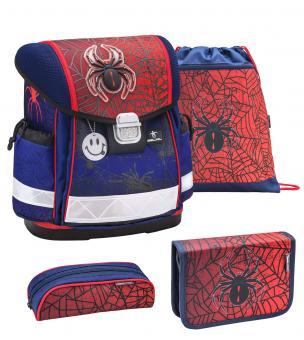 Belmil 'Classy' Schulranzen Set 4-teilig Spiders