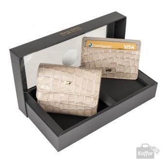 Braun Büffel Verona Set: Geldbörse 5CS + Kartenetui Sand