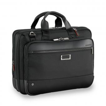 "Briggs & Riley Business Case Medium Expandable Brief 15.6"" black"