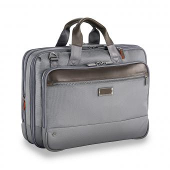 "Briggs & Riley Business Case Medium Expandable Brief 15.6"" grey"