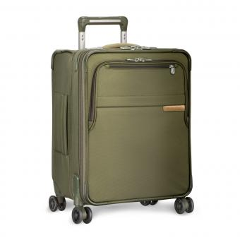 Briggs & Riley Baseline International Carry-On Expandable Wide-body Spinner Olive