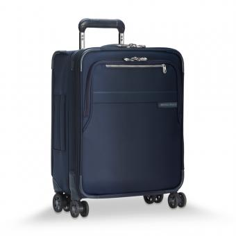 Briggs & Riley Baseline International Carry-On Expandable Wide-body Spinner Navy Blue