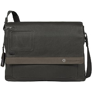 Piquadro Vibe Messenger mit doppeltem Notebook-Fach grey-taupe