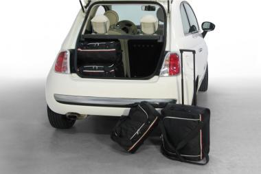 Car-Bags Fiat 500 Reisetaschen-Set ab 2007 inkl. Cabrio | 2x54l + 2x24l