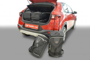 Car-Bags Kia Stonic Reisetaschen-Set (YB) ab 2017 (ohne Ladeboden) | 3x62l + 3x35l