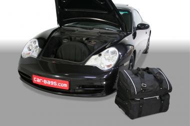 Car-Bags Porsche 911 Reisetaschen-Set (996) 1997-2006 (2WD + 4WD ohne CD-Wechsler im unteren Laderaum) | 1x57l + 1x48l