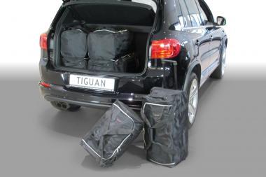 Car-Bags Volkswagen Tiguan Reisetaschen-Set (5N) 2007-2015 (tiefer Ladeboden) | 3x74l + 3x54l