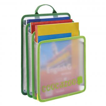 Coocazoo CheckBag Faltbare Heftbox Transparent Green