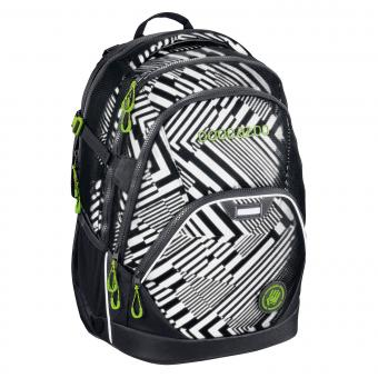 Coocazoo Schulrucksäcke EvverClevver 2 Rucksack *EffectiveReflective Edition* Black Track Reflective