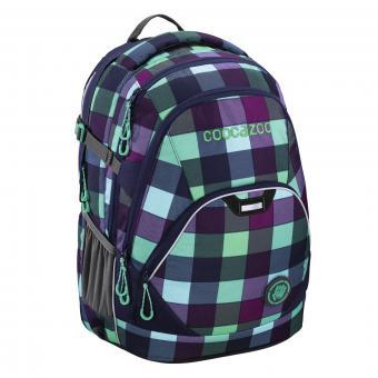 Coocazoo Schulrucksäcke EvverClevver 2 Rucksack MatchPatch Green Purple District