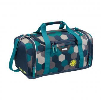 Coocazoo Taschen Sporttasche SporterPorter Blue Geometric Melange