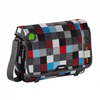 Coocazoo Taschen Schultertasche HangDang Checkmate Blue Red