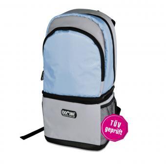 Cool Safe Rucksack mit integr. Medizin-Kühltasche blau