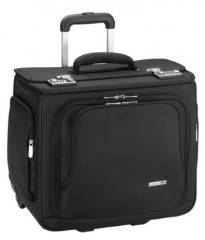 d&n Business & Travel Pilotenkoffer-Trolley 2861 schwarz