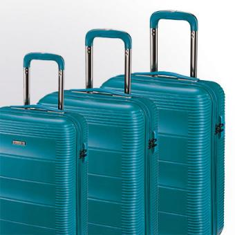 d&n Travel Line 97 Trolley-Set 9700 4R, 3-tlg. S/M/L petrol