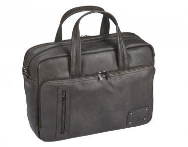 "d&n Basic Line Business Bag mit Laptopfach 15"" - 5215 grau-silber"