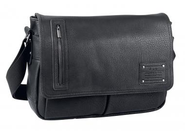 "d&n Basic Line Messenger Bag mit Laptopfach 15"" - 5216 schwarz"